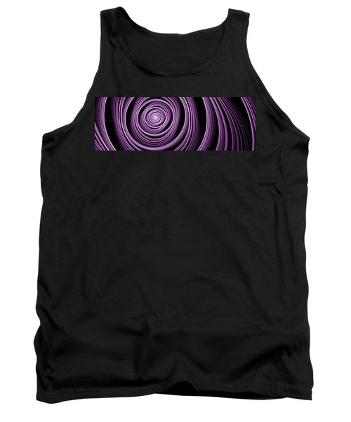Fractal Purple Swirl Tank Top by Gabiw Art
