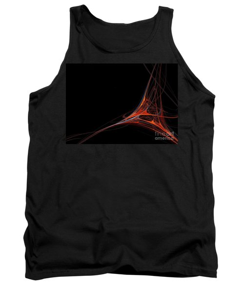 Tank Top featuring the photograph Fractal Red by Henrik Lehnerer