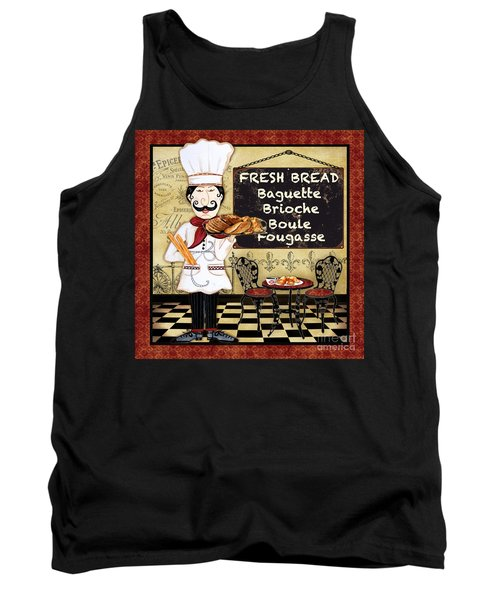 French Chef-a Tank Top by Jean Plout