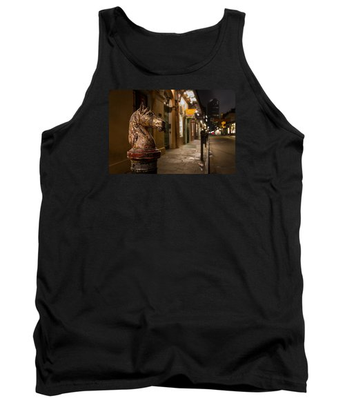 Tank Top featuring the photograph French Quarter Hitching Post by Tim Stanley
