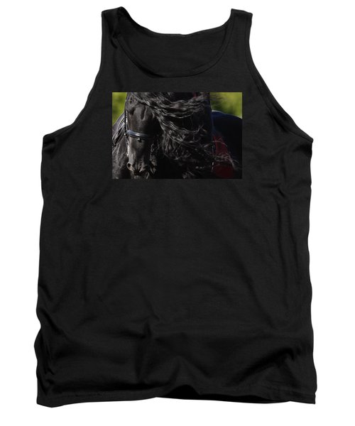 Tank Top featuring the photograph Friesian Beauty D8197 by Wes and Dotty Weber