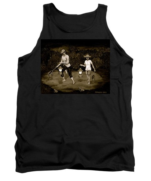 Frog Hunters Black And White Photograph Version Tank Top