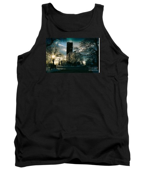 Frosty Sunrise At Tower Park Tank Top