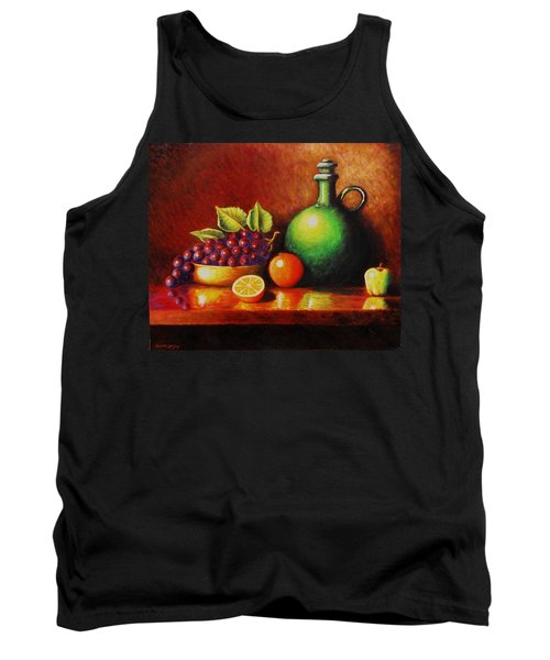 Tank Top featuring the painting Fruit And Jug by Gene Gregory