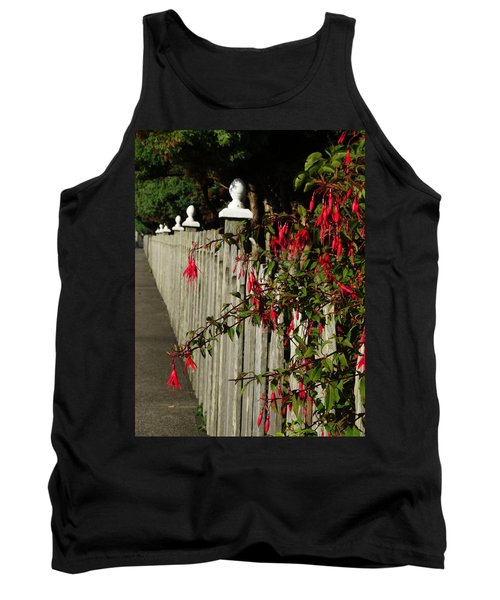 Fuchsias  And Fence Posts Tank Top