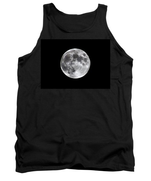 Tank Top featuring the photograph Full Moon by Aaron Berg