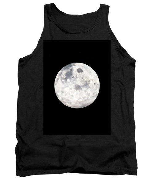 Full Moon In Black Night Tank Top by Janice Dunbar