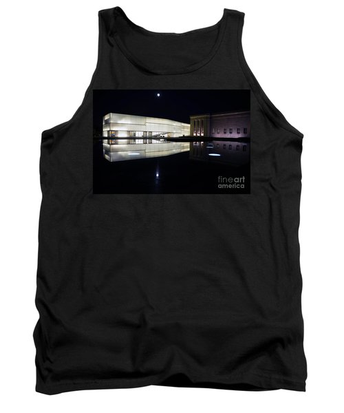 Full Moon Over Nelson Atkins Museum In Kansas City Tank Top by Catherine Sherman