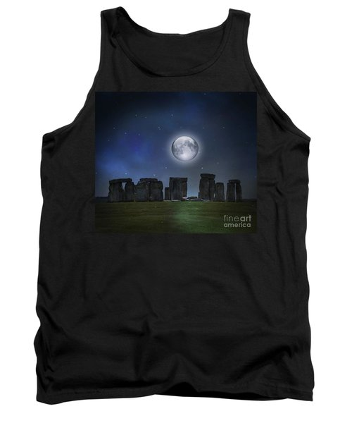 Full Moon Over Stonehenge Tank Top