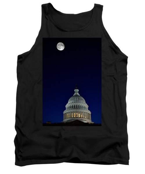 Full Moon Over Us Capitol Tank Top by Lawrence Boothby
