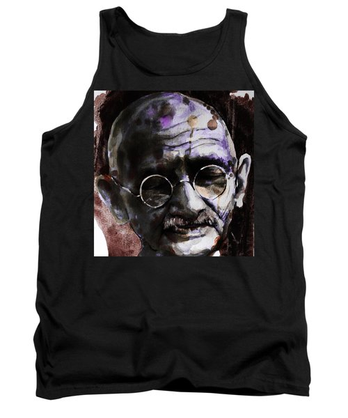 Tank Top featuring the painting Gandhi by Laur Iduc