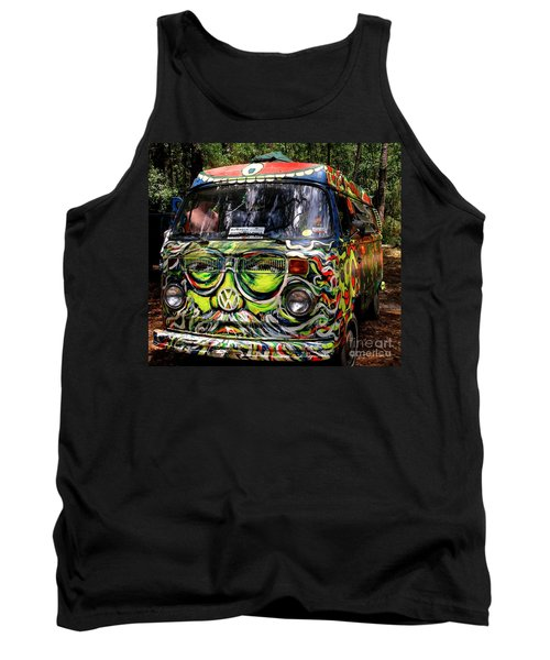 Garcia Vw Bus Tank Top by Angela Murray