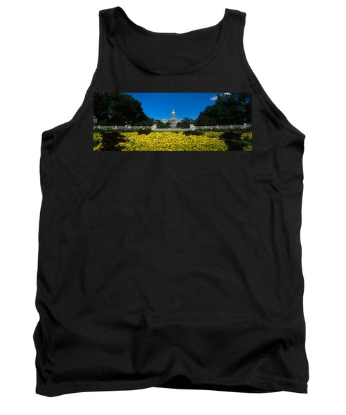 Garden In Front Of A State Capitol Tank Top