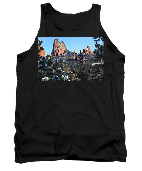 Tank Top featuring the photograph Garden Of The Gods After Snow Colorado Landscape by Jon Holiday
