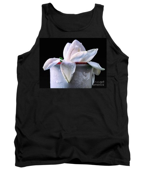 Tank Top featuring the photograph Gardenia In Coffee Cup by Silvia Ganora