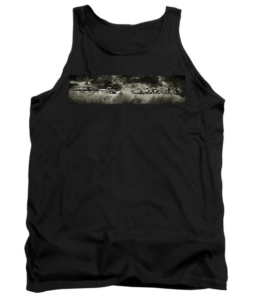 Gathering Black And White Tank Top