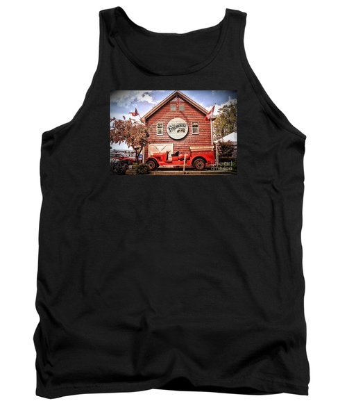 Geneva On The Lake Firehouse Tank Top by The Art of Alice Terrill