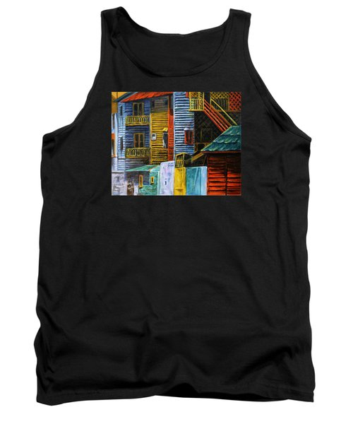 Tank Top featuring the painting Geometric Colours I by Xueling Zou
