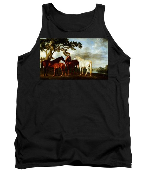 Horses Tank Top by George Stubbs