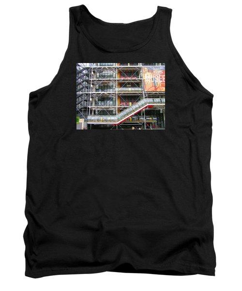 Georges Pompidou Centre Tank Top by Oleg Zavarzin