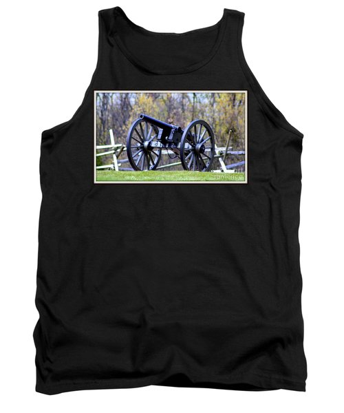 Gettysburg Battlefield Cannon Tank Top by Patti Whitten