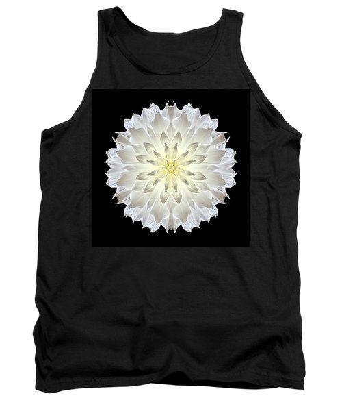 Giant White Dahlia Flower Mandala Tank Top