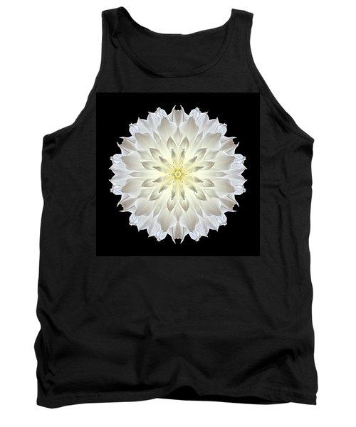 Tank Top featuring the photograph Giant White Dahlia Flower Mandala by David J Bookbinder