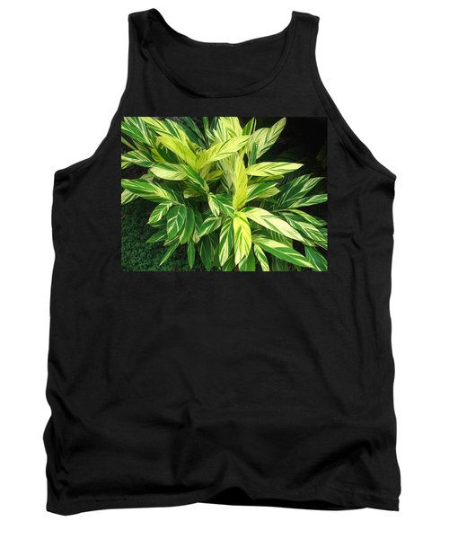 Ginger Lily. Alpinia Zerumbet Tank Top by Connie Fox