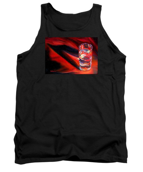 Glass Of Water On Red Tank Top