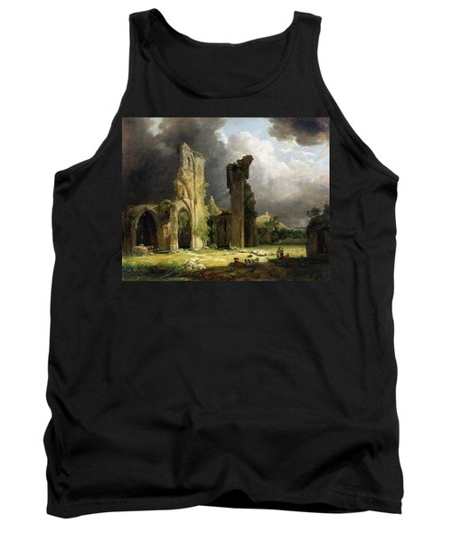 Glastonbury Abbey With The Tor Tank Top