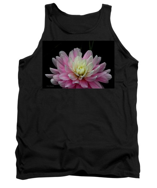 Glistening Dahlia Radiance Tank Top by Jeanette C Landstrom
