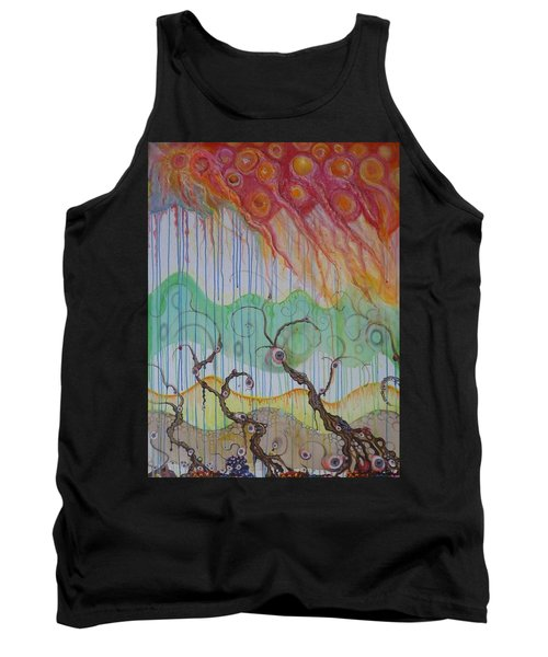 Tank Top featuring the mixed media Climate Change, The Final Chapter by Douglas Fromm