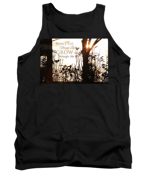 Glowing Landscape With Message Tank Top