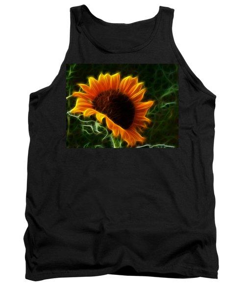 Glowing Sunflower Tank Top