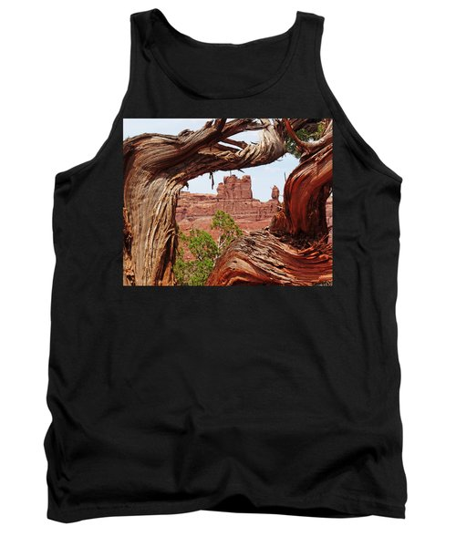Tank Top featuring the photograph Gnarly Tree by Alan Socolik