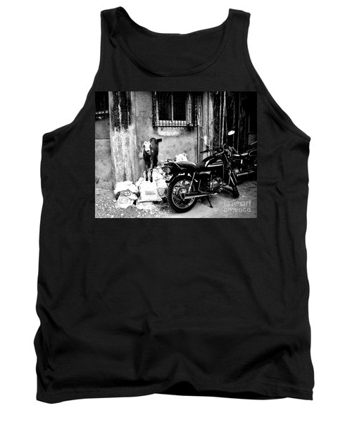 Goatercycle Black And White Tank Top