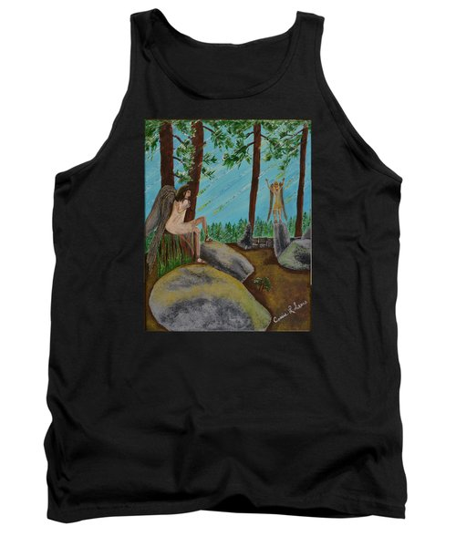 Tank Top featuring the painting God Calls His Angels by Cassie Sears