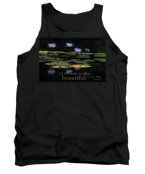 Peace Of Mind With Message Tank Top