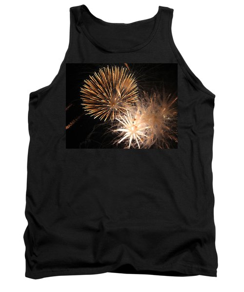 Tank Top featuring the photograph Golden Fireworks by Rowana Ray