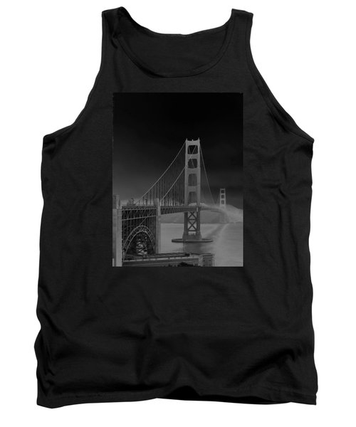 Golden Gate Bridge To Sausalito Tank Top by Connie Fox