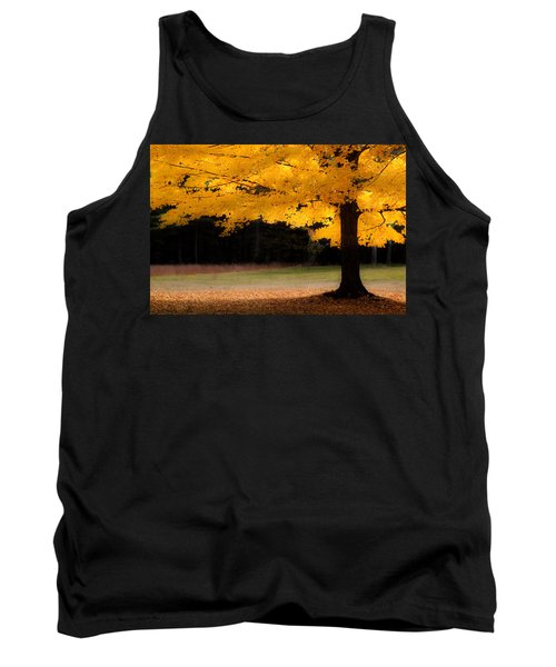 Golden Glow Of Autumn Fall Colors Tank Top by Jeff Folger