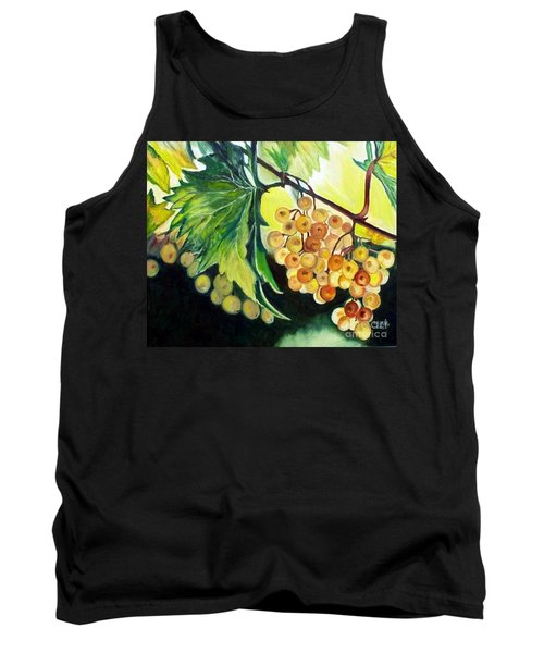 Tank Top featuring the painting Golden Grapes by Julie Brugh Riffey