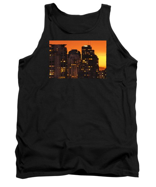 Tank Top featuring the photograph Golden Orange Cityscape Dccc by Amyn Nasser