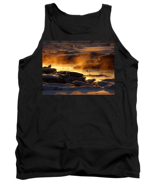 Golden Sea Smoke At Sunrise Tank Top by Dianne Cowen