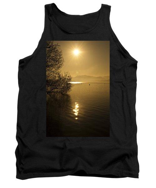 Tank Top featuring the photograph Golden Ullswater Evening by Meirion Matthias