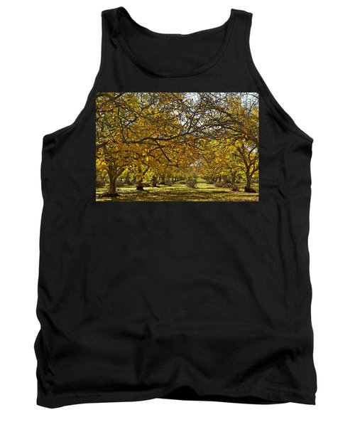 Golden Walnut Orchard Tank Top by Michele Myers