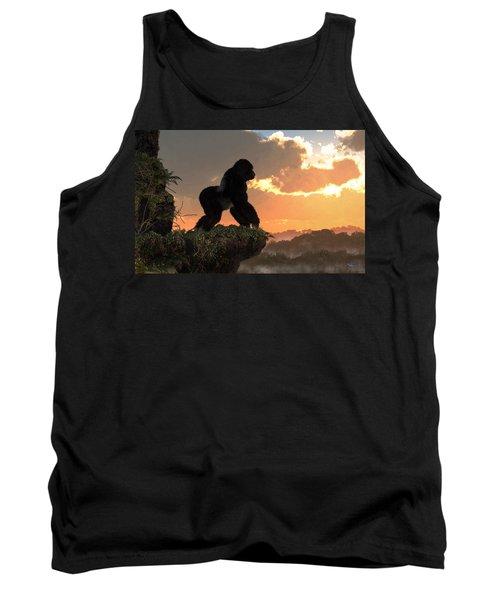 Gorilla Sunset Tank Top