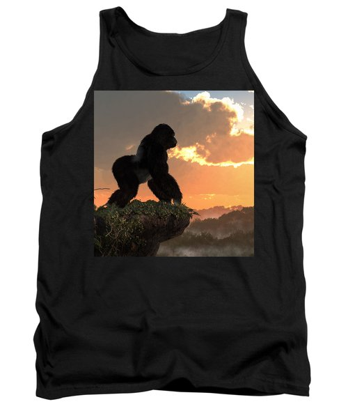 Gorilla Sunset Tank Top