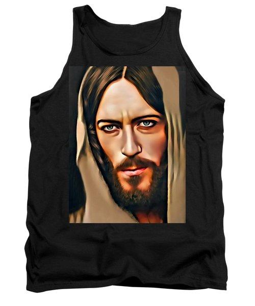 Tank Top featuring the digital art Got Jesus? by Karen Showell
