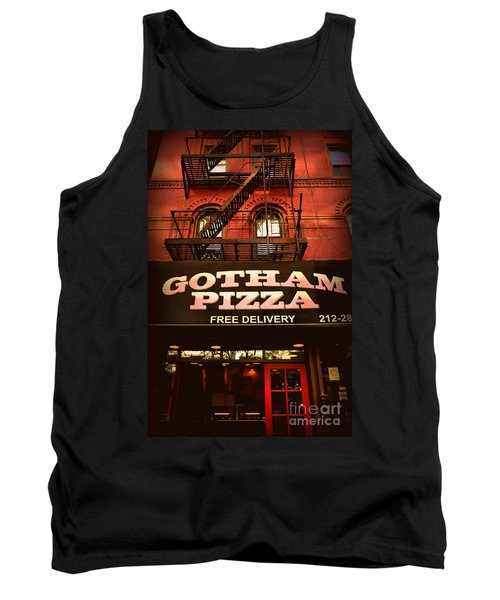 Gotham Pizza Tank Top by Miriam Danar